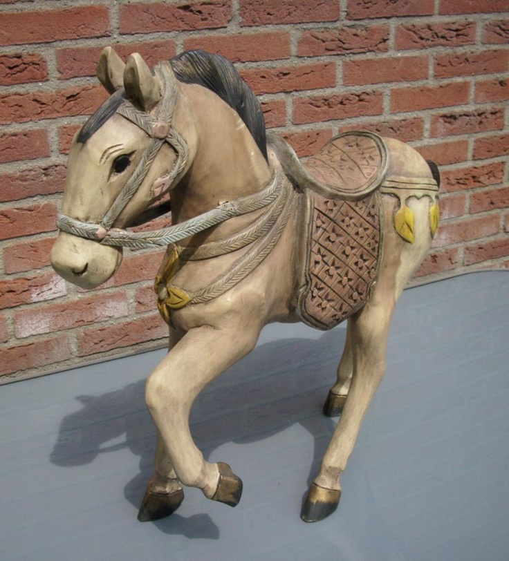 Mooi antiek houten kermis paard