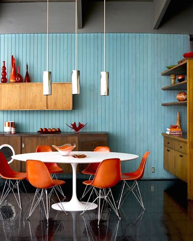 Best Mid Century Modern Interiors Images On Pinterest
