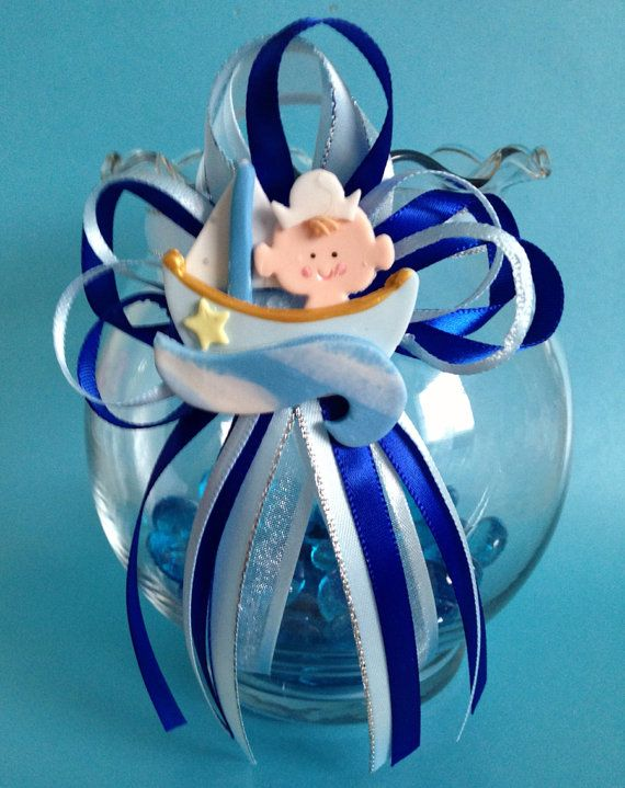 nautical glass fish bowl vase centerpiece baby shower birthday table