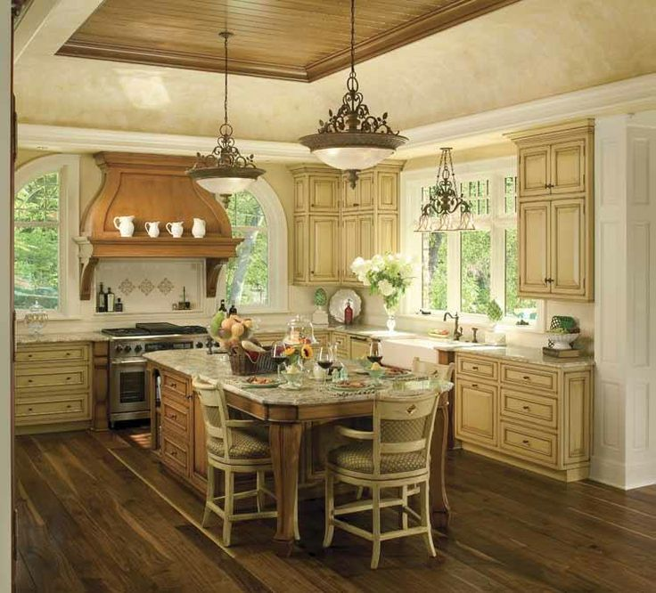 Island seating dream kitchen pinterest for Pictures of country kitchens with islands