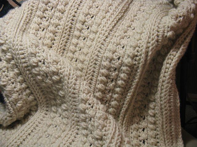 Free Crochet Afghan Pattern : Ravelry: Crochet Aran Afghan free crochet pattern by Michele Maks