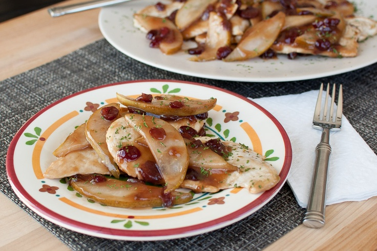 One Skillet Balsamic Chicken and Pears- a healthy, quick dinner recipe ...
