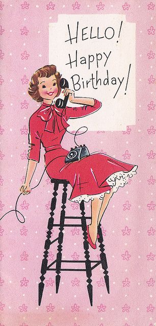 Vintage Greeting Card - Birthday by jerkingchicken, via Flickr
