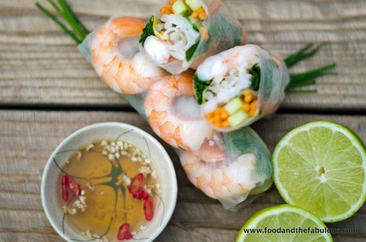 Fresh spring rolls -Goi Cuon from Vietnam