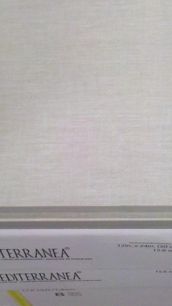 "Floor Touch Summer Breeze linen-textured 12x24"" tile."
