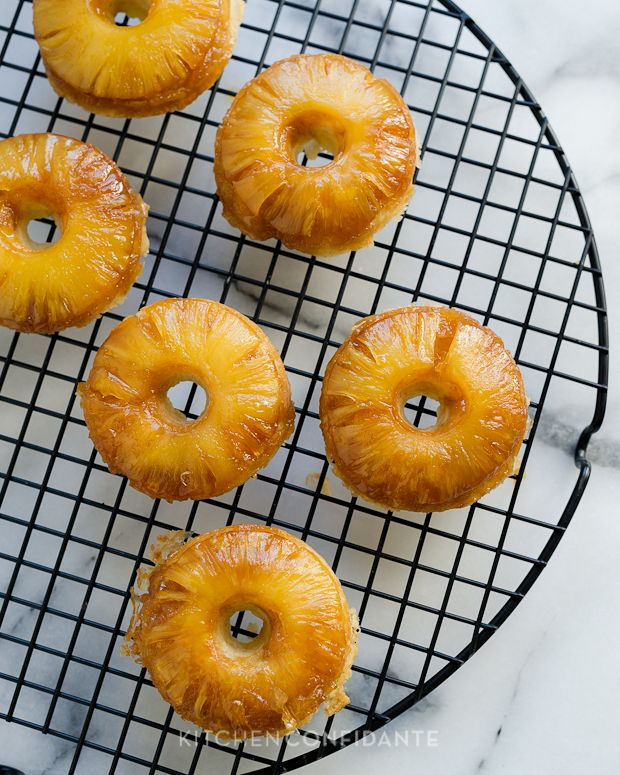 Pineapple upside down cake doughnuts I wonder if you could make these ...