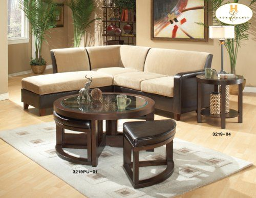 Coffee Table With Four Ottomans For The Home Pinterest