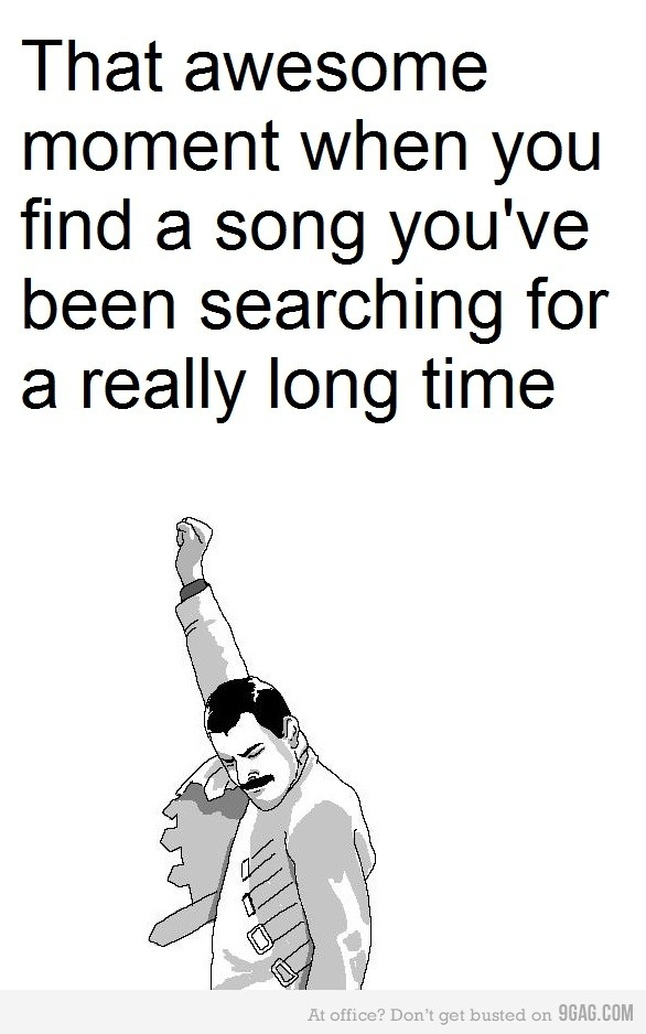 Moment when you find the song you were looking for
