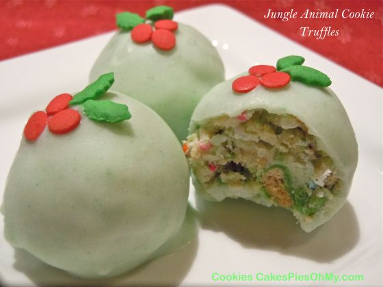Jungle Animal Cookie Truffles | www.CookiesCakesPiesOhMy.com | Pinter ...