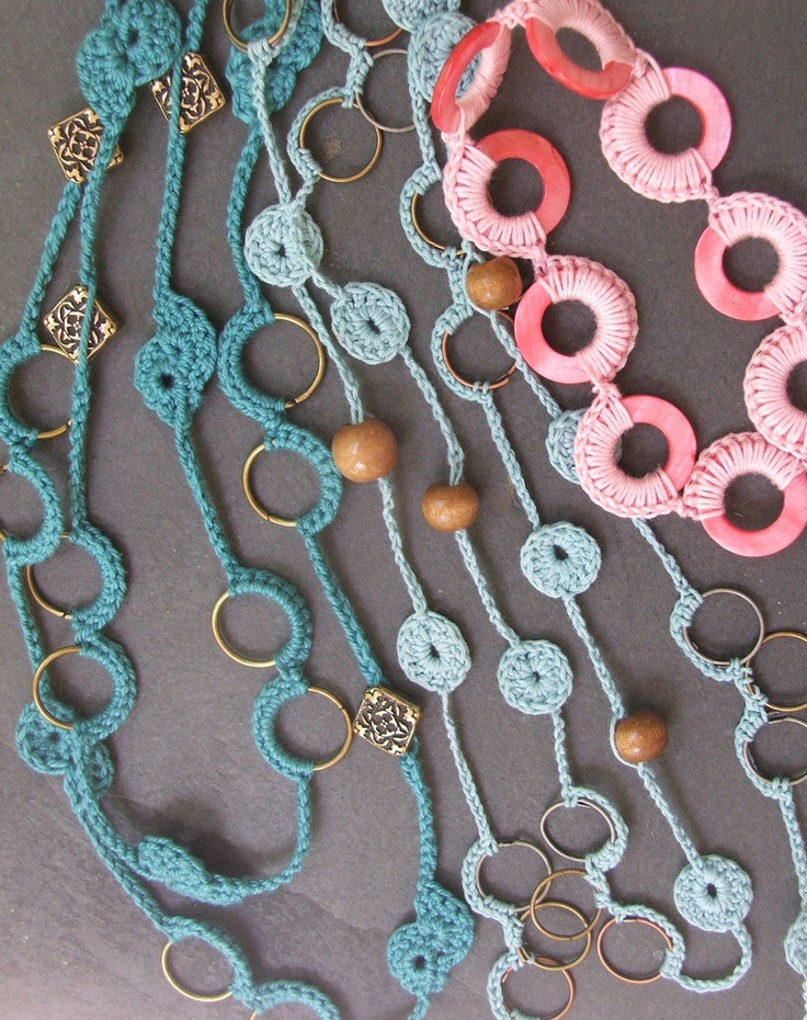 PATTERNS - Summery Crochet Jewelry plus bonus patterns. $7.00, via ...