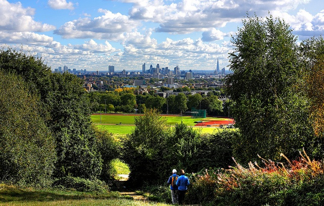 The Heath and clouds over Central London encompass the beauty of