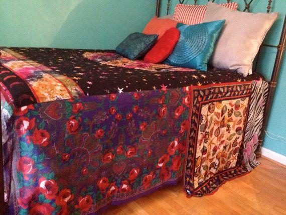 Gypsy Boho Bedspread  Zodiac Bedding  Blanket  Bohemian  Anthropologi