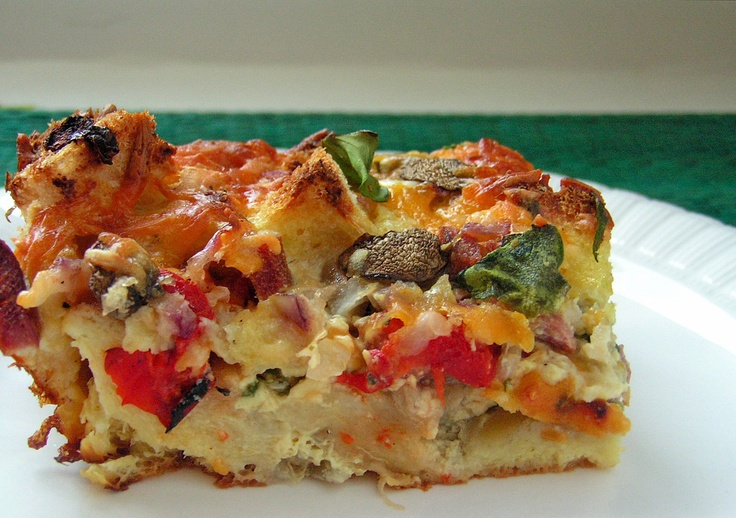 Ham and Cheese Strata | breakfast | Pinterest