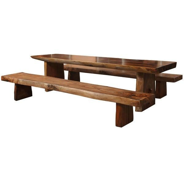 Details About Solid Wood Extra Thick Long Slab Rectangle Dining