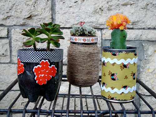 Recycled Container Plant Pots