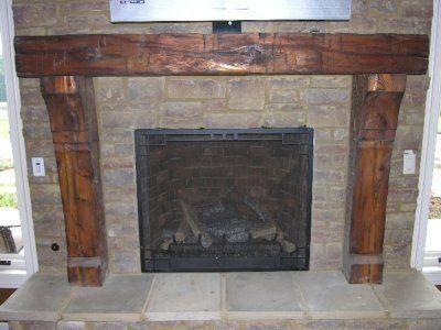 craftsman style fireplace mantel