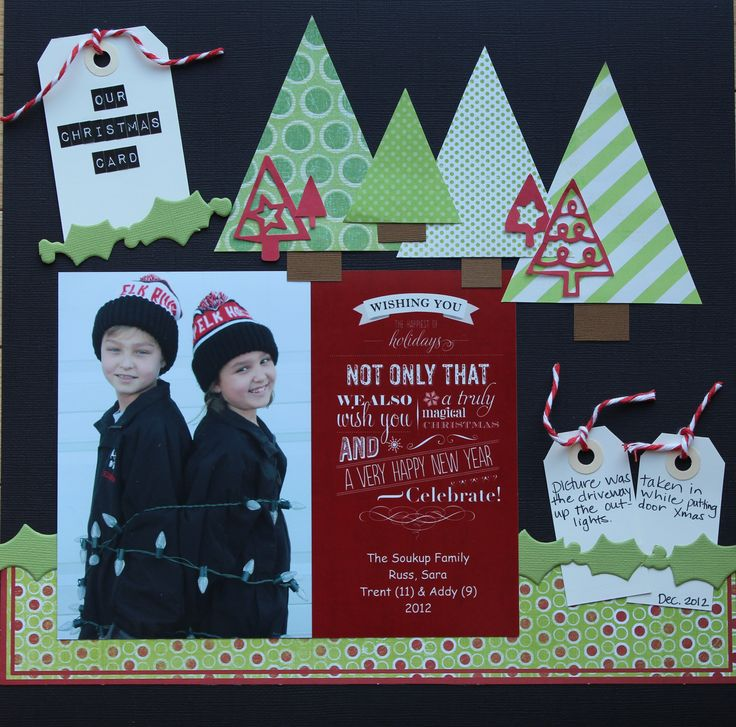 Our christmas card scrapbook com scrapbook layouts christmas