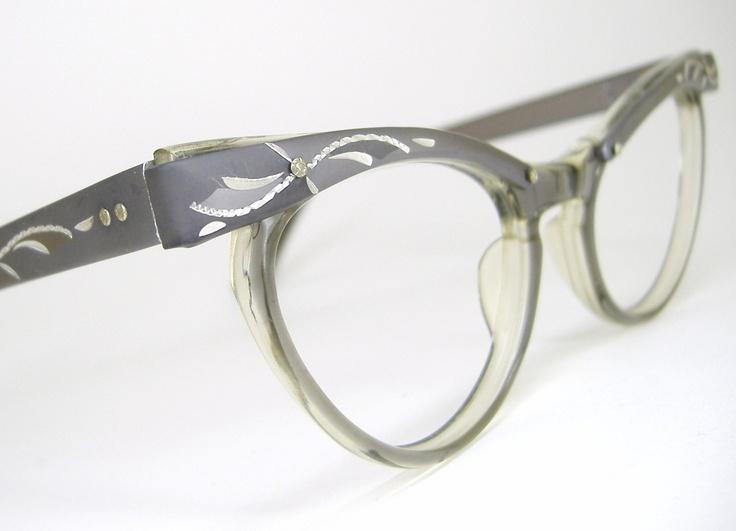 Cat Eye Women s Eyeglass Frames : Womens Vintage 50s Cat Eye Eyeglasses Frames