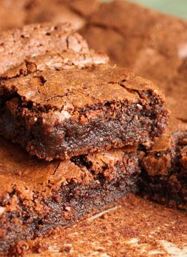 Deep Dark Chocolate Fudge Brownies | Desserts | Pinterest