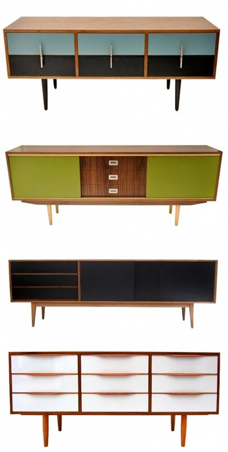 Retro modern tv stand design ideas painted restored for Retro modern furniture