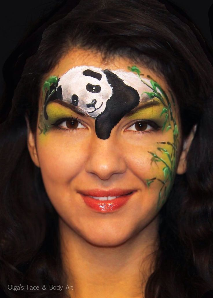 Olga Meleca || panda | Face painting Inspiration | Pinterest