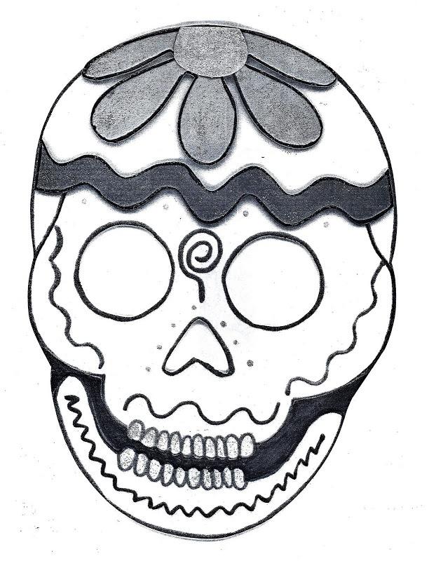 Pinto Dibujos: Dibujo para colorear de calaveras de día de muertos