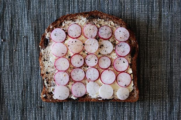radish sandwich {just butter, hold the mustard please}