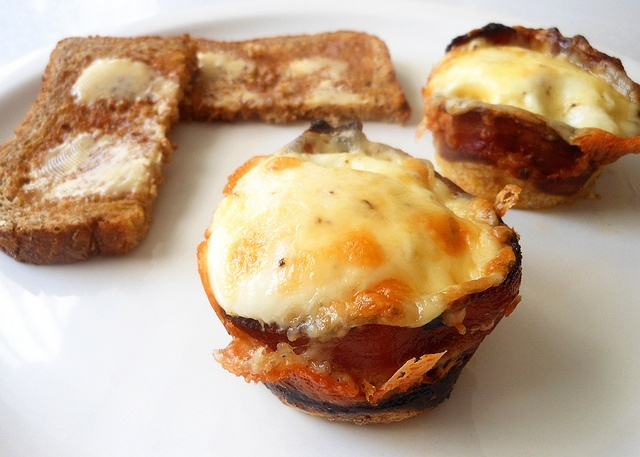 bacon wrapped egg with cheese, baked | Food | Pinterest