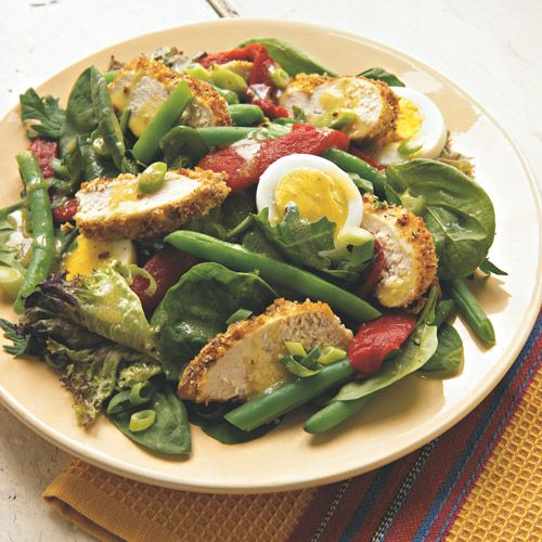 Provencal Chicken- And- Vegetable Main Dish Salad Breaded Dijon ...