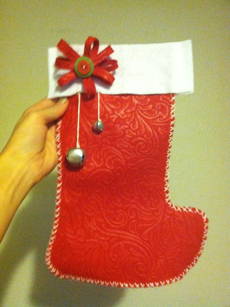 Diy Christmas Stocking Handy Work Pinterest