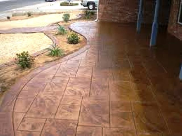 back patio concrete stamping ideas outside pinterest