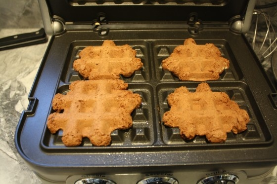 Waffle Iron Brownies Recipe — Dishmaps