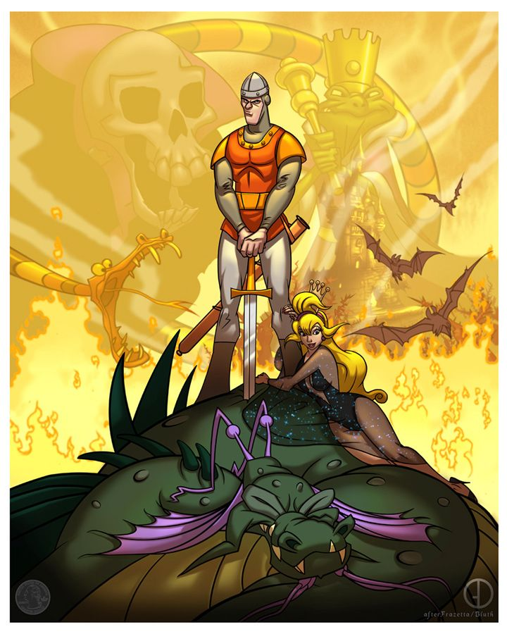 Dragon s lair illustration n posters pinterest for Dragon s lair