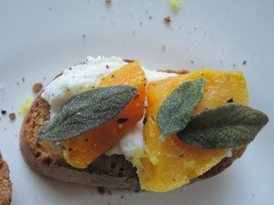 Butternut Squash, Ricotta, And Sage Crostini Recipes — Dishmaps
