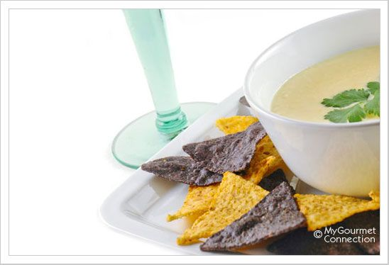 Queso Fundido: Mexican style fondue, flavored with garlic, fresh lime ...