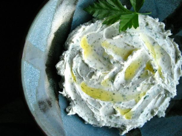 "Herbed Chevre Spread: ""This cheese can be presented formed into a ball ..."
