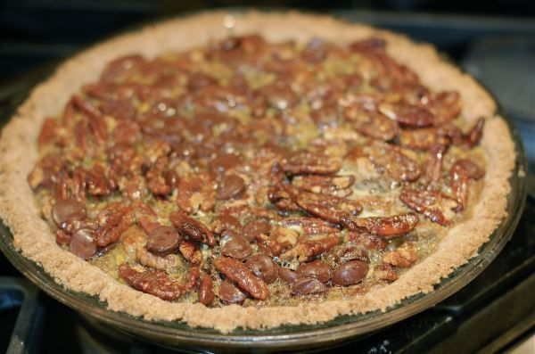 Chocolate Pecan Pie...from 100 Days of Real Food Blog