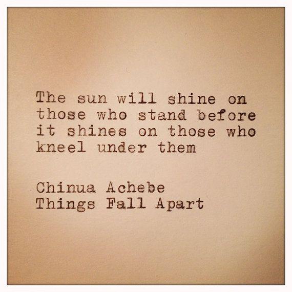 chinua achebe things fall apart essay questions