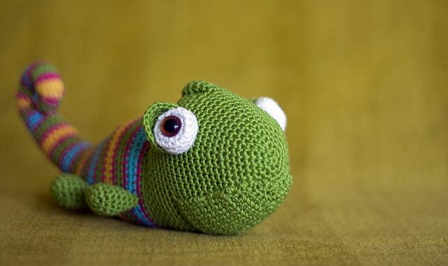 amigurumi chameleon Yarn and fabric Pinterest