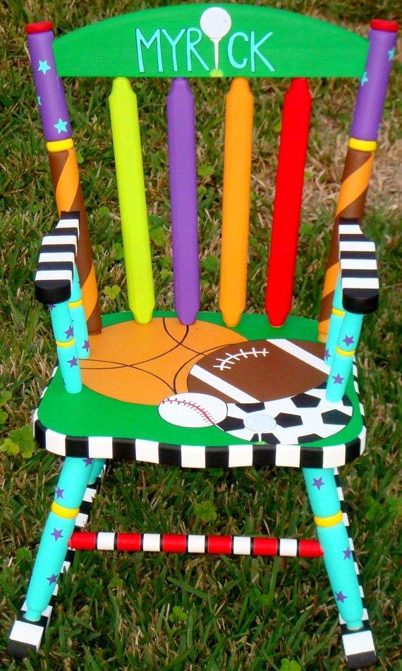 Rocker Custom Painted Rocking Chair for Children Hand