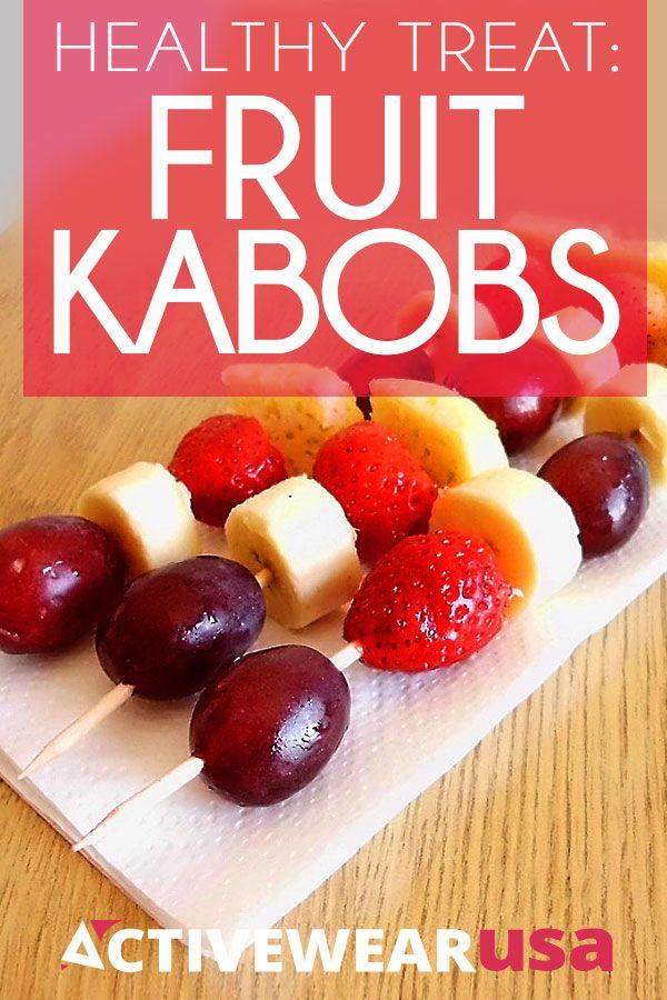 Healthy Treat: Fruit Kabobs - Take fresh fruit, add a bit of low-fat ...