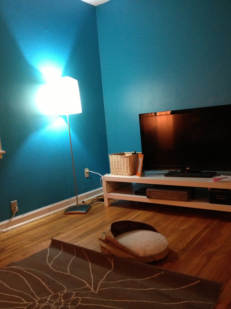 ocean blue living room