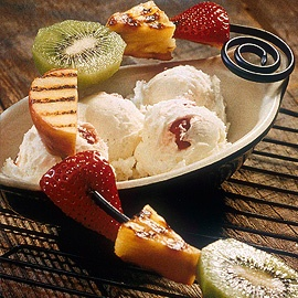 Grilled Fruit Sundae...try this new take on a classic.  I promise you'll love it.    #recipes