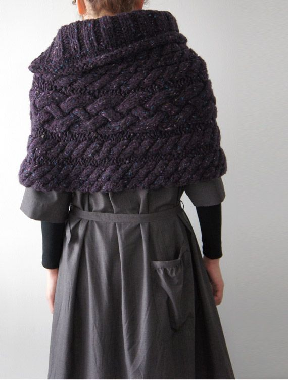 Cable Cape Knitting Pattern : hand-knitted cape Knitting Pinterest