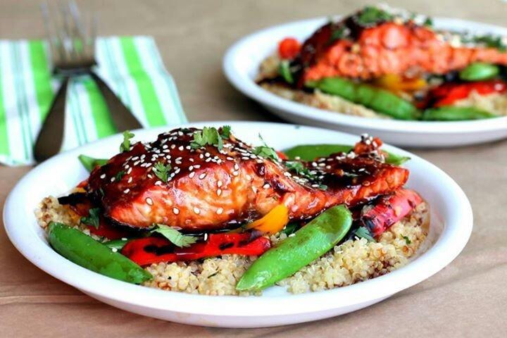Sesame Ginger Sweet Teriyaki Salmon | Foodies...breads...odd & ends ...