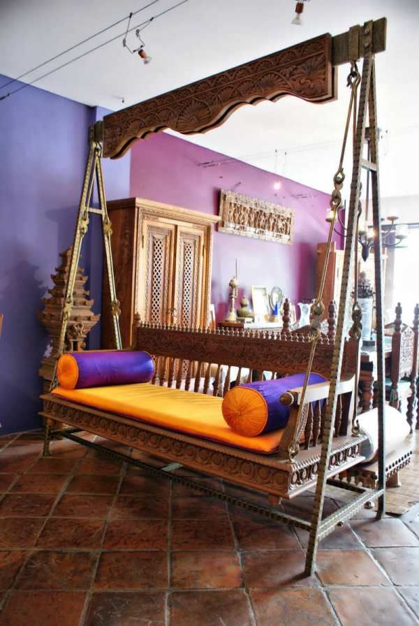 Indian swing as a sofa | ~~~RAVEN~INTERIORS~ | Pinterest