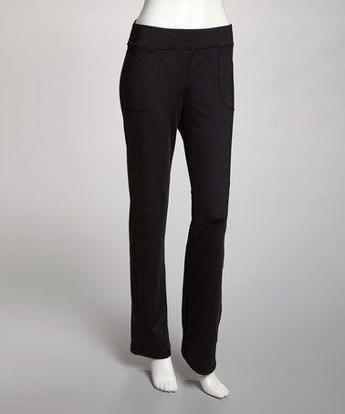 Amazing  Womens Straight Leg Slim Black Cotton Trousers Jeans Work Pants  EBay