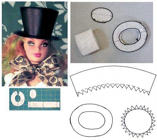 RED LABEL : МК по изготовлению шляпы-цилиндра для куклы