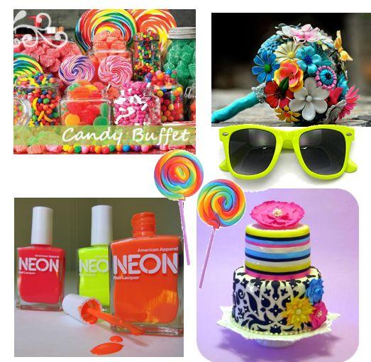 Neon color color color party ideas pinterest