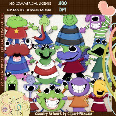 ... BARGAIN BIN :: *BB- Clip Art :: Monster Mash 2009 Whimsical Clip Art